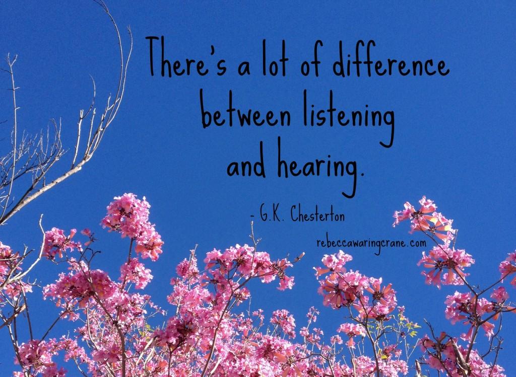 G. K. Chesterton/listening