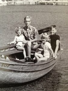 With my siblings off the Isle of Skiathos, 1967.