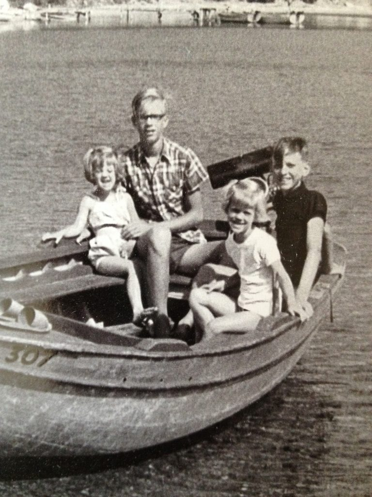 With my siblings off the Isle of Skiathos, 1967.